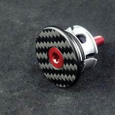 """J&L Carbon 1 1/8"""" Headset/Stem Cap+Bolt=5.8g-for Ritchey,Zipp,FSA,3T,Enve&Pro"""