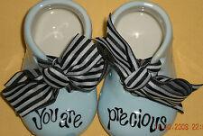 Figurine Precious Blessings Blue Baby Boys Shoes