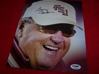 FLORIDA STATE COACH BOBBY BOWDEN Signed 8x10 Photo 2 PSA CERTIFIED