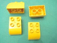 LEGO group DUPLO 4 mattoncini gialli curvi mattoni rari