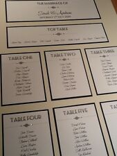 A2 Handmade Personalised Vintage Style Art Deco Wedding Table Seating Plan