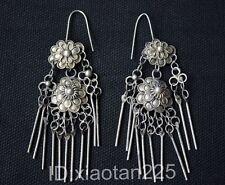 Ethnic Characteristic Chinese Handmade Miao Silver Filigree Earring W1107