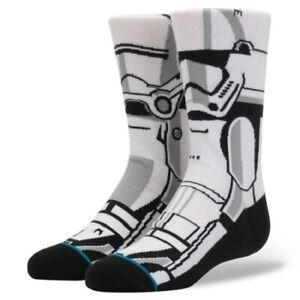 Star Wars STORM TROOPER Stormtrooper White Black Men Comfy Socks Uk 7 - 11