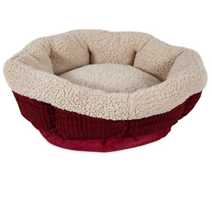 🔥Aspen Pet Self Warming Small Round Pet Cat Dog Bed 19 in. 305-80135