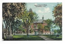 CLAREMONT, NH Opera House & Park - Circa 1912