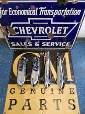 1958 CHEVROLET IMPALA FRONT BENCH SEAT TRIM (4 PC SET) ORIGINAL/RESTORED/3X CHRO