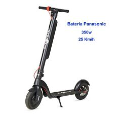 Patinete electrico plegable 350w bateria Panasonic 36v10Ah intercambiable negro