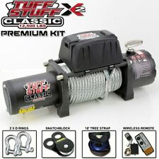 TUFF STUFF CLASSIC WIRELESS WINCH 12500 Lbs 12V WITH PREMIUM RECOVERY KIT