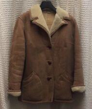 NORM THOMPSON Suede Shearling Lambskin Coat Barn Jacket Women's Sz 14