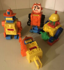 4 Ding A Lings Topper Toys Space Robots Vintage 1971 w/ Instruction Sheets