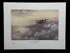 "Short Sunderland""Evening Patrol"" by John Young,Signed,Stamped,Ltd Edition Print"