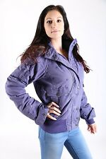 Timezone  Damen Winter Jacke Ginette Purple Pepita Stars Grösse M *Neuware*