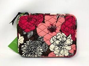 "Vera Bradley Mocha Rouge Mini Tablet E-Reader Sleeve Case 6.25"" x 8.5"" New"