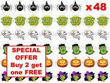 48 x 3cm Halloween Party Night Mixed Cup Cake Toppers Edible Rice Wafer Paper