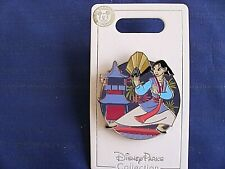 Disney * PRINCESS MULAN w/ FAN * New on Card Trading Pin