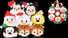 Disney TSUM TSUM Plush Toy 2015 Christmas Wreath + Tsum Set of 8