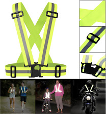 High Visibility Reflective Conspicuity Safety Vest Cycling Running Child Adult
