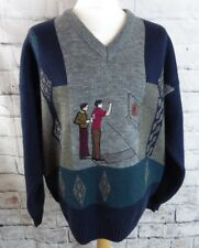 """Vintage C&A CANDA jumper extra large XL chest 50"""" darts players wool blend green"""