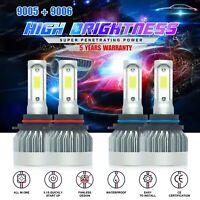 Combo 9005 9006 LED Headlight for Chevy Silverado Tahoe 99-06 Hi/Lo Beam 3810W