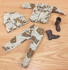 """Unbranded G.I. Joe Brown & Tan """"White"""" Outfit With Brown Boots for 11.5"""" Doll"""