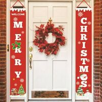 Merry Christmas Banner Wall Hanging Door Curtain Home Party Xmas Decoration
