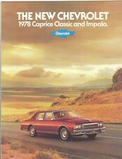 1978 Chevrolet Caprice Classic & Impala Brochure - Mint