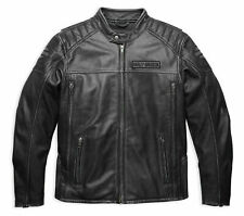 Harley Davidson Men MIDWAY Distressed Leather Jacket 98108  Small