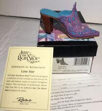 Just The Right Shoe Lone Star Miniature Figurine Rare Slip on Mini Rodeo Clog