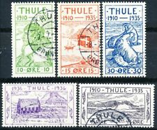 Greenland THULE, Complete Set of 5 used.