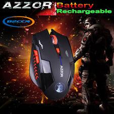 6d 2.4ghz senza fili ricaricabili 2400dpi 6 Tasti Scroll Ottico Gaming Mouse