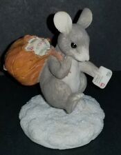 Early Silvestri Charming Tails Mail Mouse Excellent Figurine Snow Letters Leaf