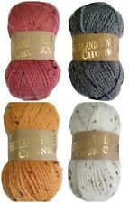 SHETLAND TWEED CHUNKY Woolcraft Knitting Wool 20% Wool 100g BALL £2.50-MAX POST