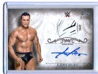 WWE Alberto Del Rio 2016 Topps Undisputed Silver Autograph Relic Card SN 3 of 50