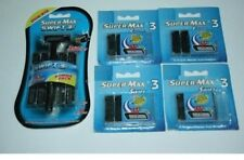 21 Swift3 Supermax BLADES Razor fits Gillette Sensor 3 Excel Refills Cartridges