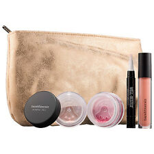 Bare Minerals Let It Glow Radiant 4 Pc Collection - Eyes/Face/Lips + Makeup Bag