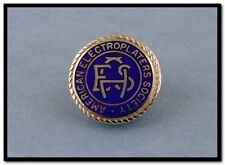 VINTAGE STERLING SILVER & ENAMEL AMERICAN ELECTROPLATERS SOCIETY SCREW BACK PIN