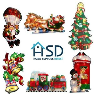 Window LED Christmas Silhouette Lights Festive Decoration Indoor B/O Small/Large