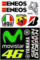 YAMAHA MOVISTAR AGV 46 ENEOS MOTOGP Motorcycle Motocross Vinyl Decals Stickers B