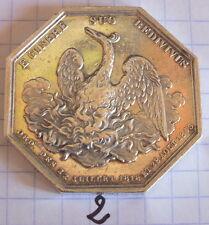 jeton médaille ancienne assurance incendie phenix octogonal Depaulis (2)