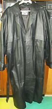Black Leather Trench Coat, Men's Big & Tall