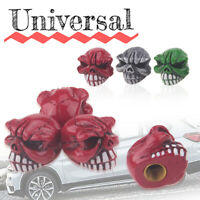 4pcs Car Skull Red Wheel Tyre Tire Stem Air Valve Caps Dust Covers Accessories