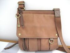 FOSSIL Morgan Leather Traveler Bag, Saddle Leather Crossbody