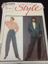 Alfred Sung For Style Pattern 4892 Size 12 Jacket Blouse & Pants Uncut From1986