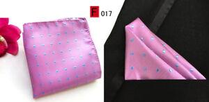 Pocket Square Handkerchief Pink Orange Blue Red Silver Brown Black Polka Dot