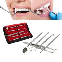 5Pcs Stainless Steel Dental Oral Hygiene Kit Tools Deep Cleaning Teeth Care Set^