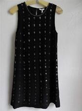 JOIE JULINA SLEEVELESS EMBELLISHED SILK DRESS, Black, Size XS, MSRP $498