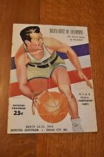 1944 NCAA basketball western finals program Utah Missouri Pepperdine Iowa State