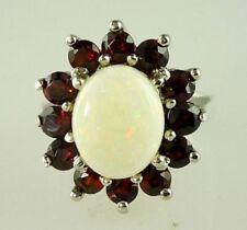 Anelli di lusso naturale in argento opale