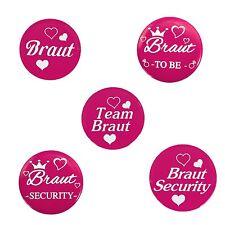 Braut Hochzeit Junggesellenabschied Sticker Buttons Team Braut Security -wählbar