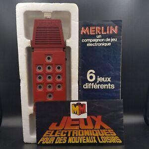 MERLIN Miro Meccano 1980 Jeu Électronique Vintage en boite avec notice